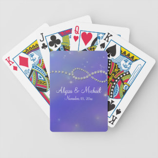 Blue Infinity Symbol Sign Infinite Love Twinkling Bicycle Playing Cards