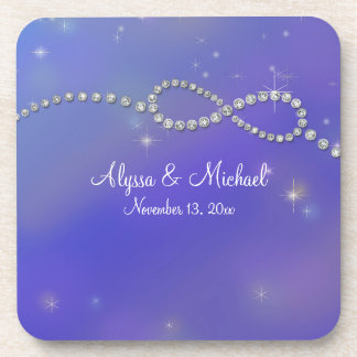 Blue Infinity Symbol Sign Infinite Love Twinkling Drink Coaster