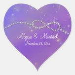 Blue Infinity Symbol Sign Infinite Love Twinkling Heart Sticker