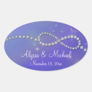 Blue Infinity Symbol Sign Infinite Love Twinkling Oval Sticker