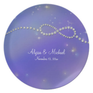 Blue Infinity Symbol Sign Infinite Love Twinkling Plate