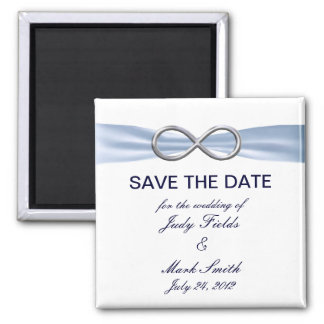Blue Infinity Wedding Save The Date Magnet
