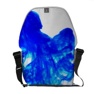 Blue Ink Drop Fine Art Photography Messenger Bag