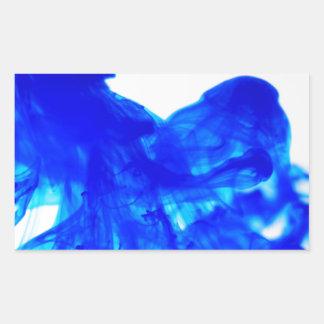 Blue Ink Drop Fine Art Photography Rectangular Sticker