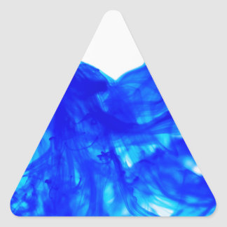 Blue Ink Drop Fine Art Photography Triangle Sticker