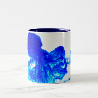 Blue Ink Drop Fine Art Photography Two-Tone Coffee Mug