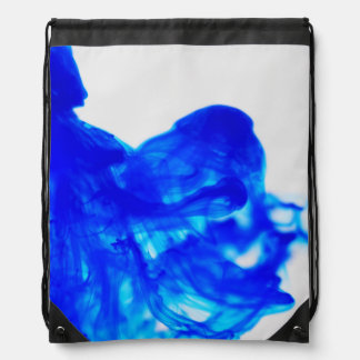 Blue Ink Drop Photography Drawstring Backpack