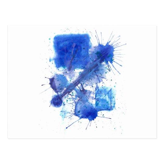 Blue Ink Postcard