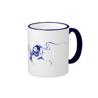 Blue Ink Ringer Mug