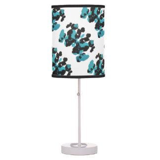 Blue Inkblot Design Table Lamps