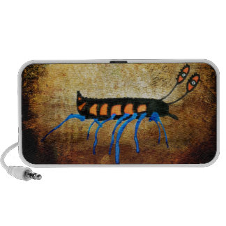 Blue Inked Funny Bug Portable Speakers