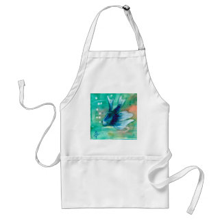 Blue Inky Betta Fish Adult Apron