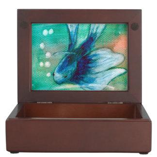 Blue Inky Betta Fish Memory Box