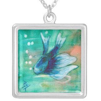 Blue Inky Betta Fish Jewelry