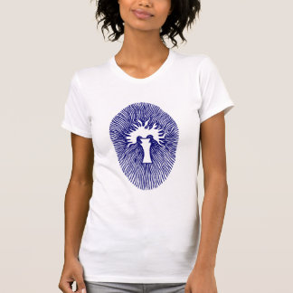 """Blue """"INNER FLAME/TEMPLE INCENSE"""" Womens T-shirt"""