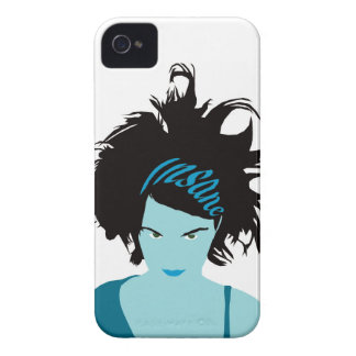 Blue Insane Girl iPhone 4 Cover