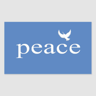 Blue Inspirational Peace Quote Stickers