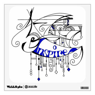 Blue Inspire In Lines and Dangles Room Decal