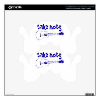 blue instrument PS3 controller decal