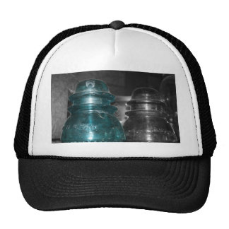Blue Insulators photo part colored Mesh Hats