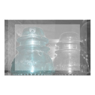 Blue Insulators photo part colored Stationery