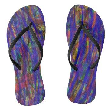 Beach Themed Blue Intensity Flip Flops