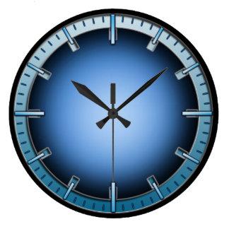 Blue Interlock Inner Glow Numberless Wall Clock