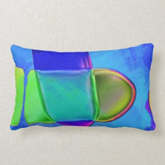 Blue Intersection Lumbar Pillow
