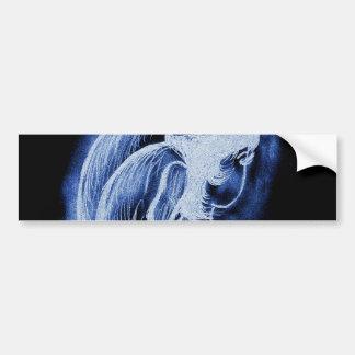Blue Inverted Sideways Angel Bumper Sticker