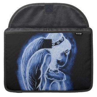 Blue Inverted Sideways Angel Sleeve For MacBook Pro