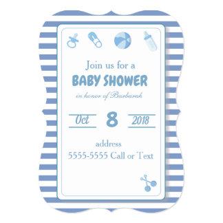 Blue Invitation Baby Shower