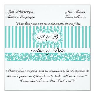 Blue invitation Tiffany
