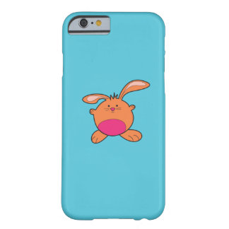 Blue iPhone6 With Brown and Pink Bunny Barely There iPhone 6 Case