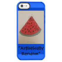 Blue IPhone 5/5s/SE case with watermelon