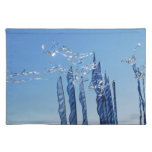 Blue Iridescent Flags Placemat