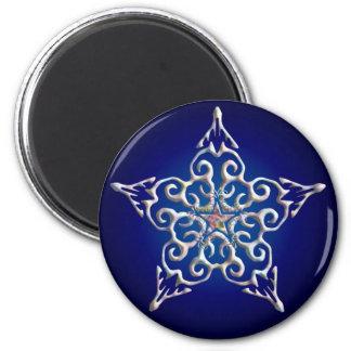 Blue Iridescent Star Magnet