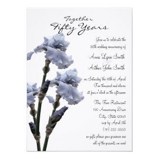 Blue Iris Anniversary Card
