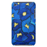 Blue Iris Bouquet Pattern Barely There iPod Cases