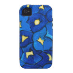 Blue Iris Bouquet Pattern Case For The iPhone 4