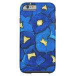 Blue Iris Bouquet Pattern iPhone 6 Case