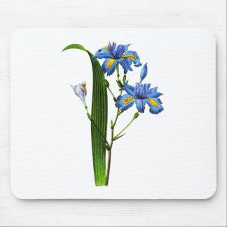 Blue Iris by Pierre-Joseph Redouté Mouse Pad