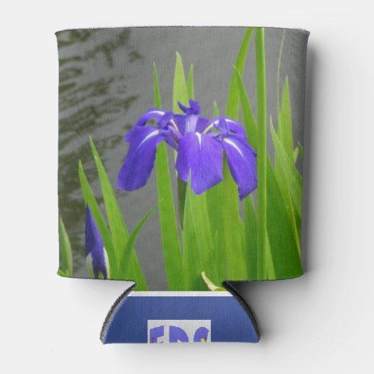 Blue Iris Can Cooler
