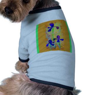 Blue Iris & Dijon Mustard Pillow by Sharles Pet T Shirt