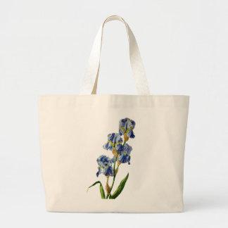 Blue Iris Drawn From Nature by Gerard van Spaendon Tote Bags