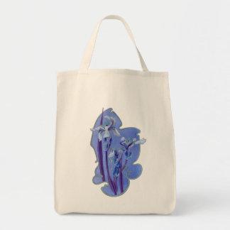 Blue Iris Floral Design Tote Bag