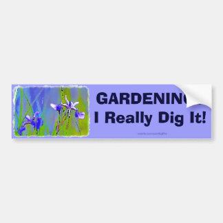 Blue Iris Garden Flowers Florists Designer Art Car Bumper Sticker