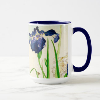 Blue Iris - Japanese watercolor print Mug