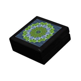 Blue Iris Kaleidoscope Box Jewelry Box