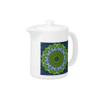 Blue Iris Kaleidoscope Teapot