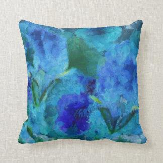 Blue Iris Throw Pillow